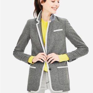 Banana Republic Grey White Tweed Hacking Jacket 6